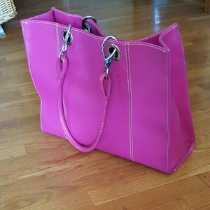TREND HOT PINK! Wilson's Oversized Leather Purse